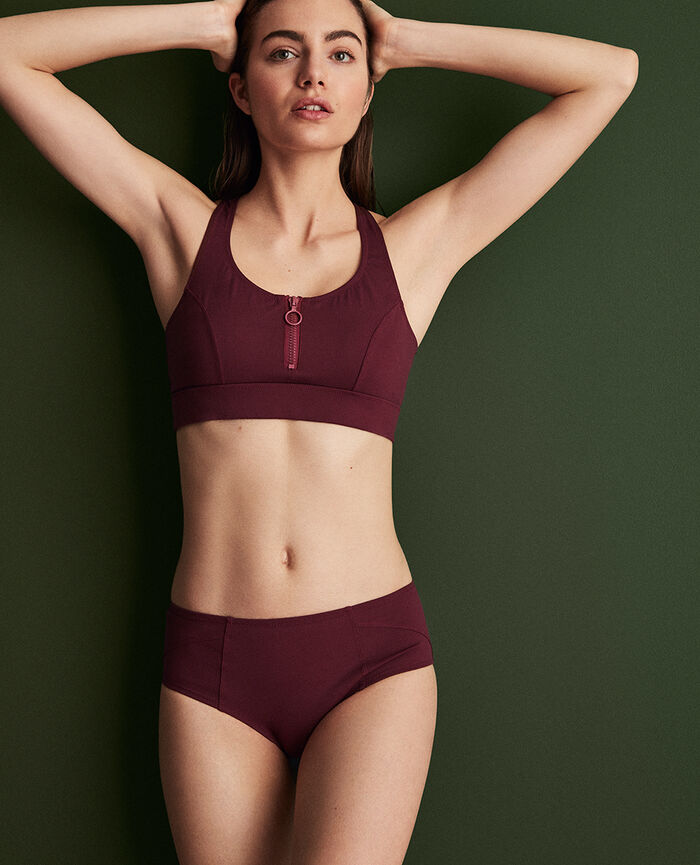 Soft sports swimsuit Cassis red Aqua