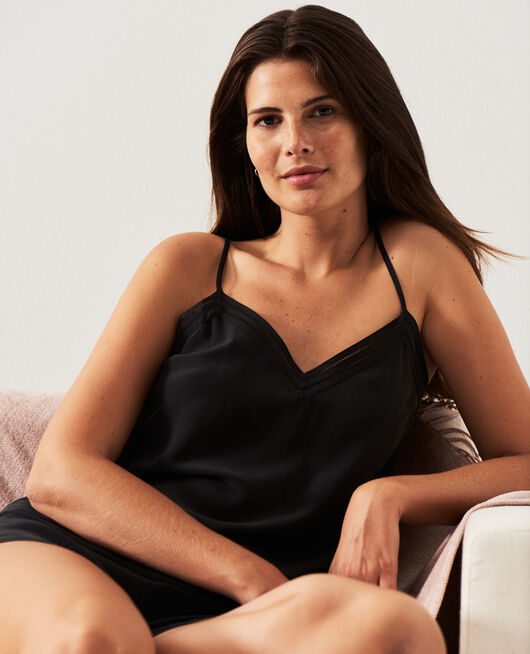 Cami Black Caresse
