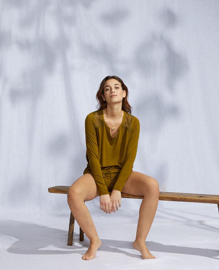 T-shirt manches longues Vert bowie Reverie