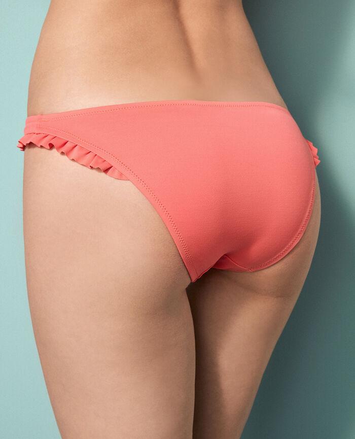 High-cut bikini briefs Coral orange Princesse tam.tam x uniqlo