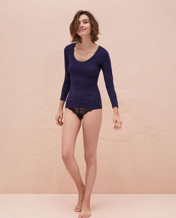 Top manches longues Bleu marine Innerwear
