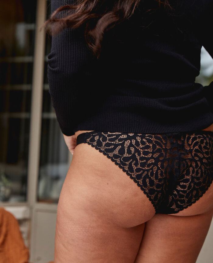 Culotte taille basse Noir Oisive