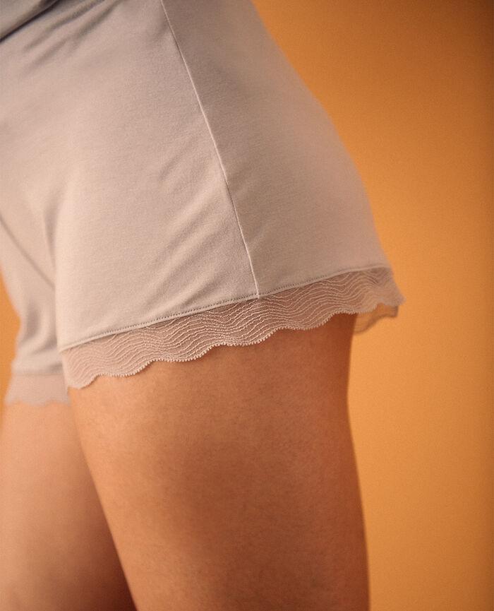 Short de pyjama Gris nacre Douceur