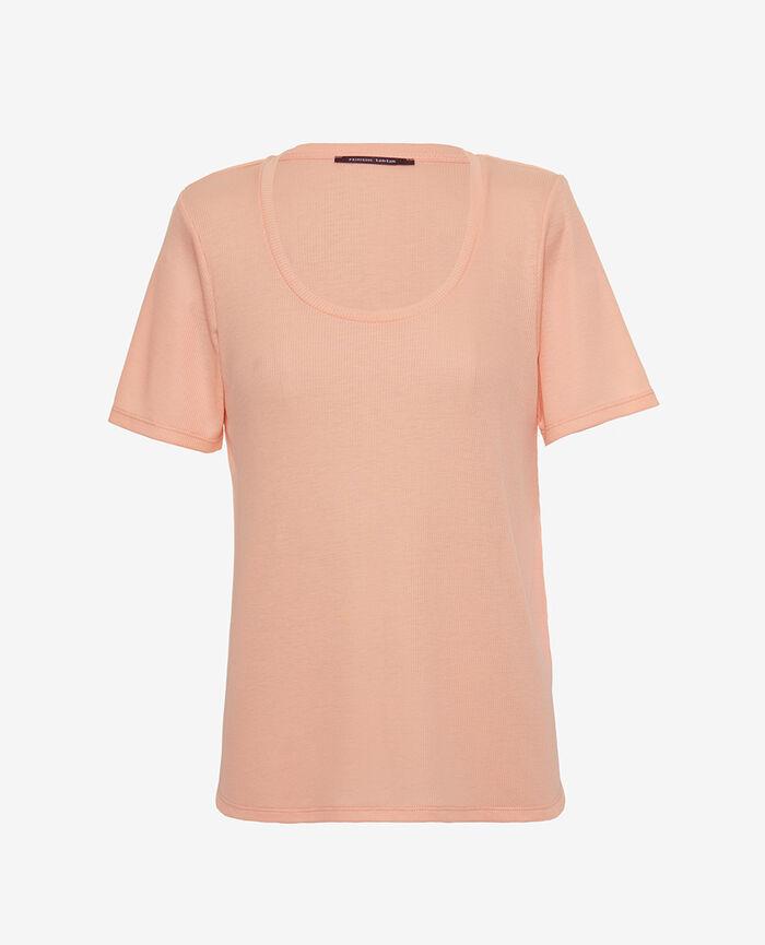 T-shirt manches courtes Rose gazelle Latte