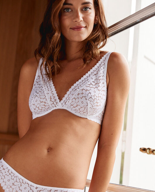 Underwired triangle bra White Monica