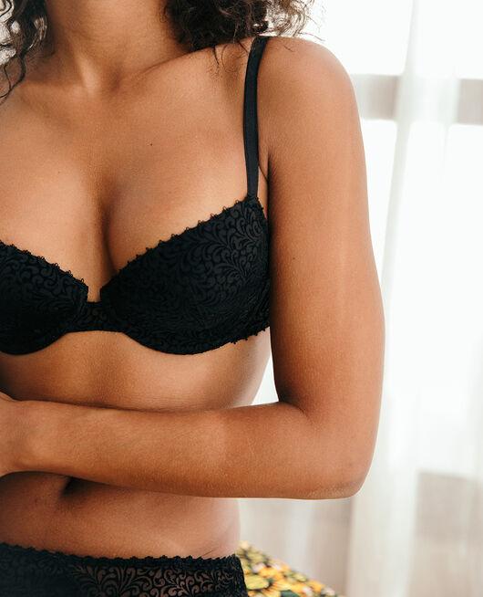 Half-cup padded bra Black Velvet
