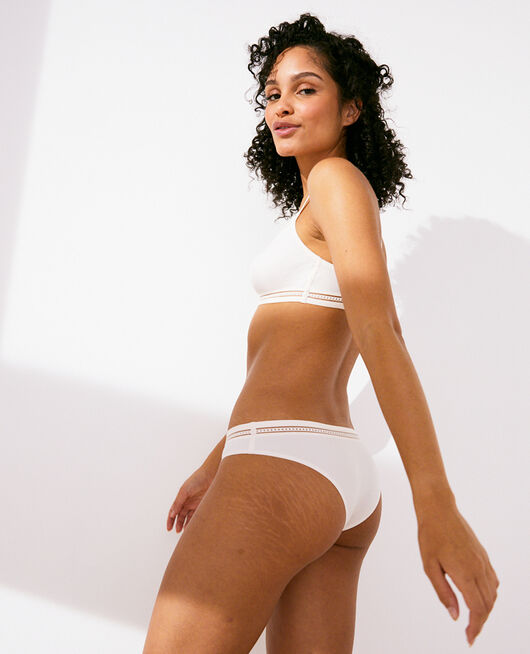 Shorty brésilien Blanc rosé Air lingerie