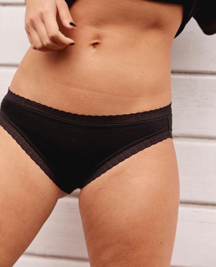 Culotte taille basse Noir Basics