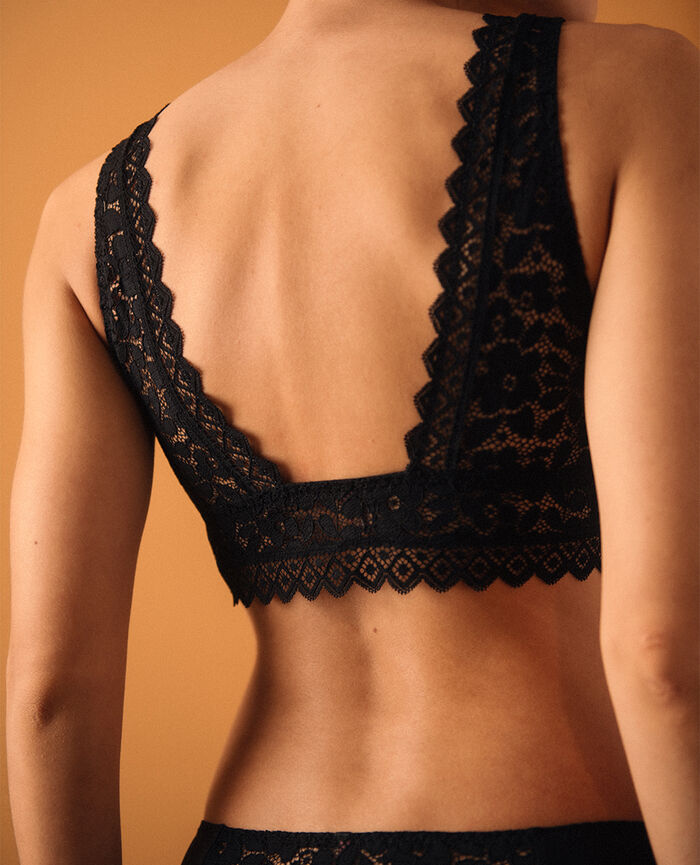 Soft bustier bra Black Confidence - the take it easy