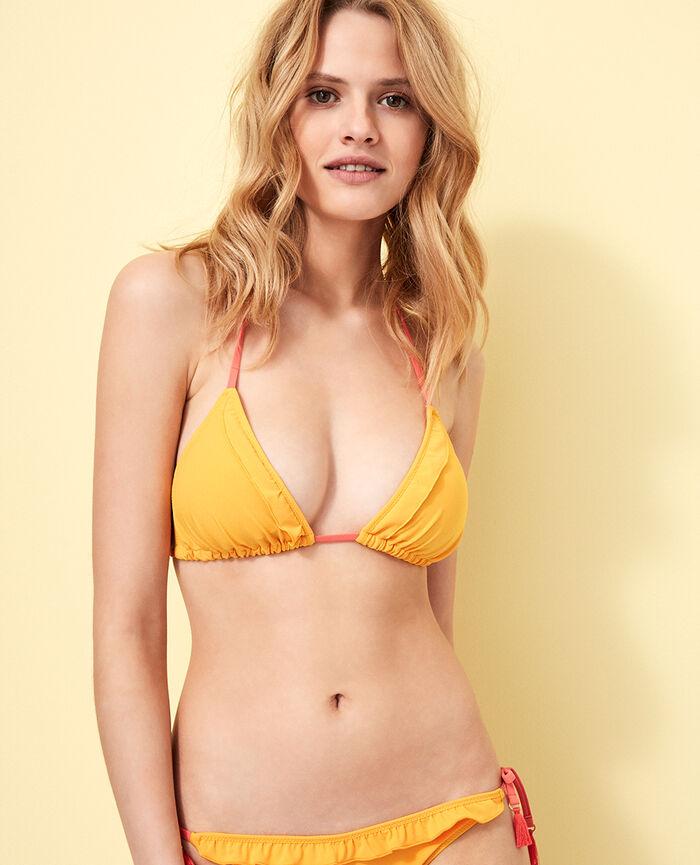 Padded triangle bikini top Banana yellow Bomba
