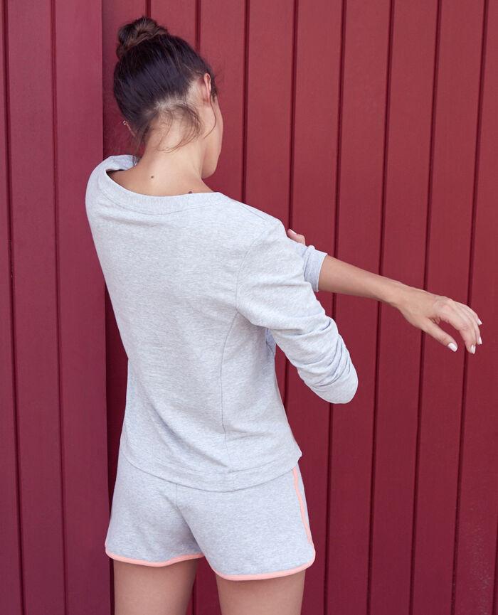 Sport sweater Flecked grey Yoga