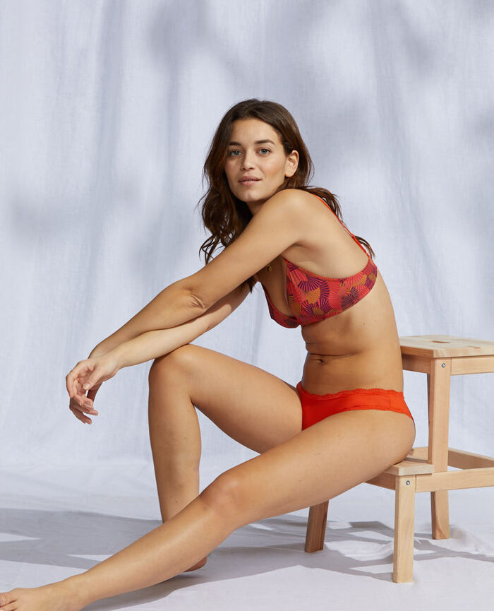 Hipster briefs Tangerine red Take away