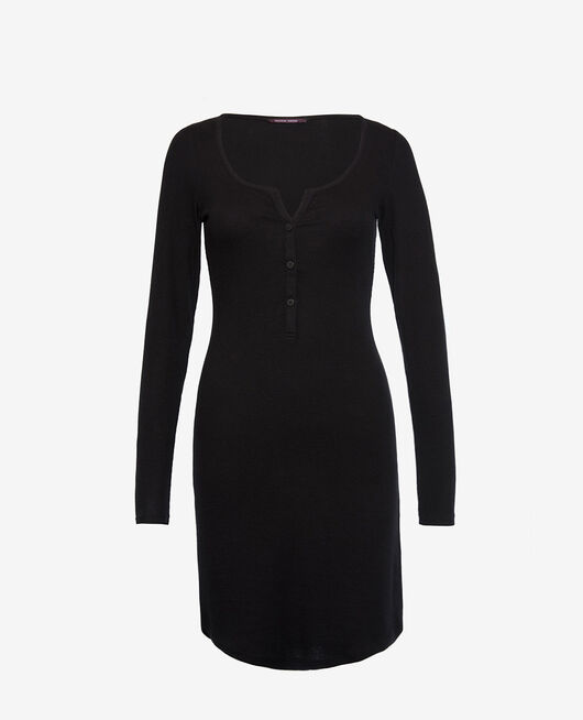 Long-sleeved nightdress Black Dimanche