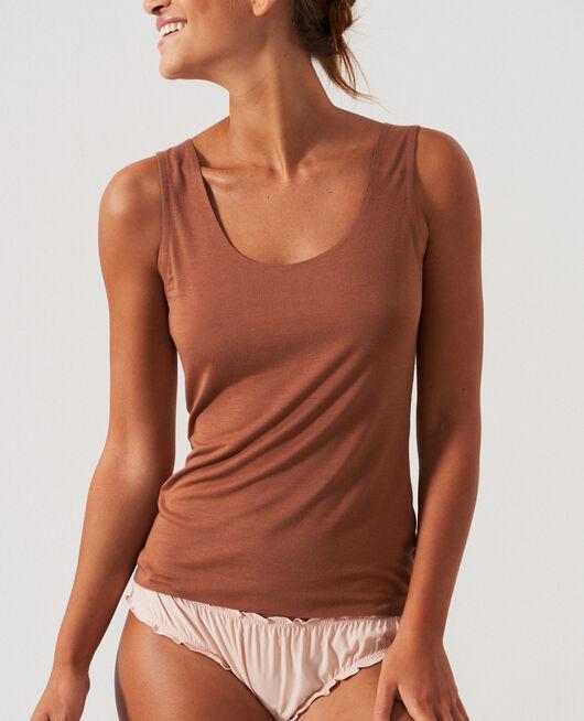 T-shirt sans manches Brun muscade Heattech© innerwear