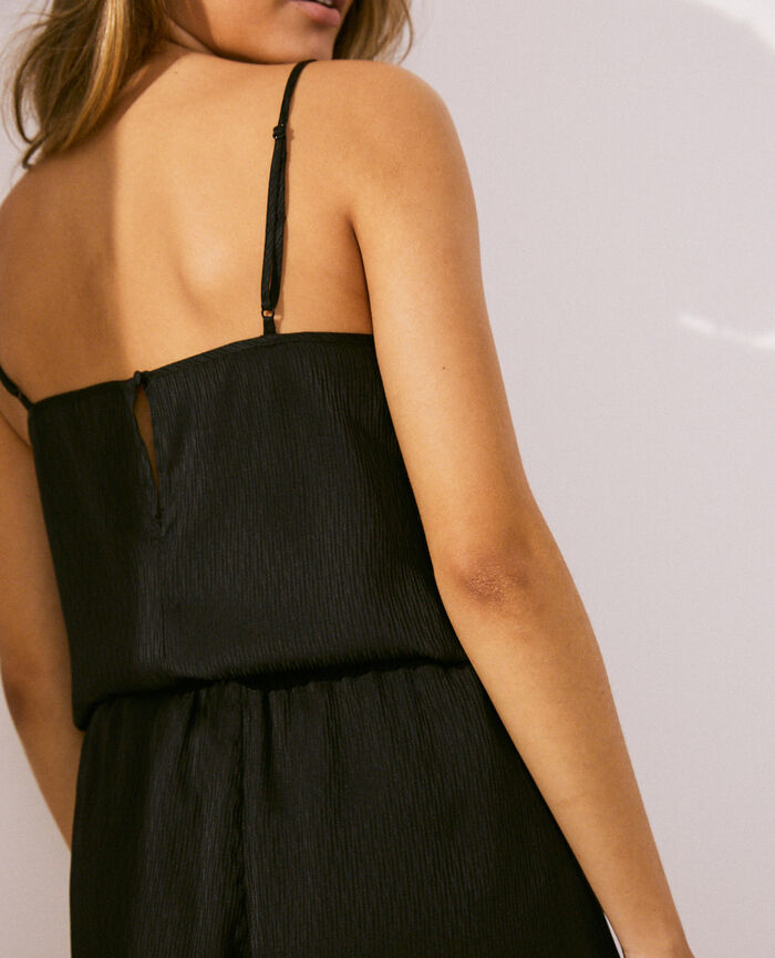 Cami Black Fancy