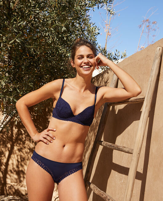 Soutien-gorge push-up mousses Bleu marine Josephine