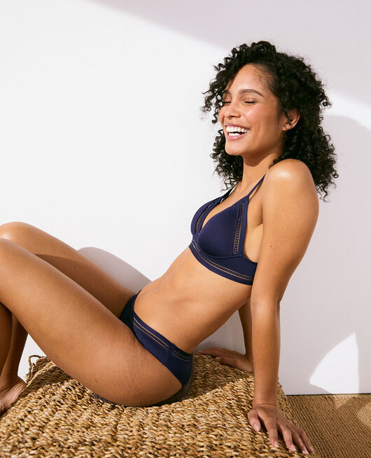 Soft cup padde bra Navy Air lingerie