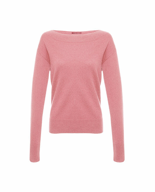 Boatneck jumper Tango pink Icone