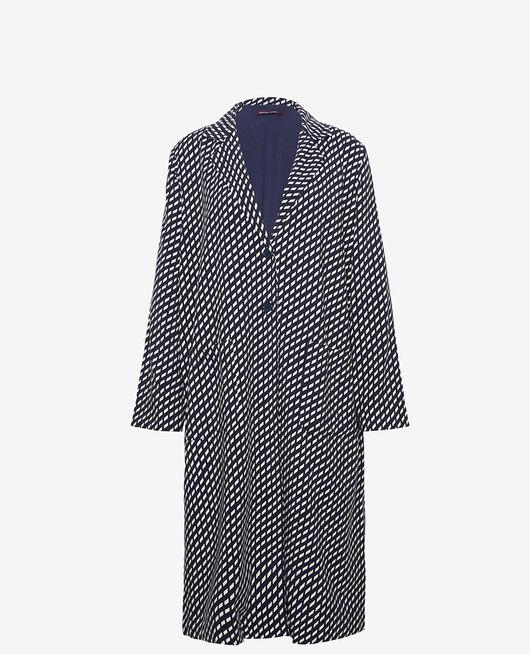 Medium-length jacket Navy blue confetti Lounge viscose