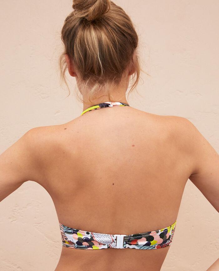 Mini-wire triangle bikini top Multicolour Jujube