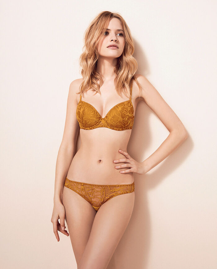 Soutien-gorge push-up mousses Brun curcuma Monkeys