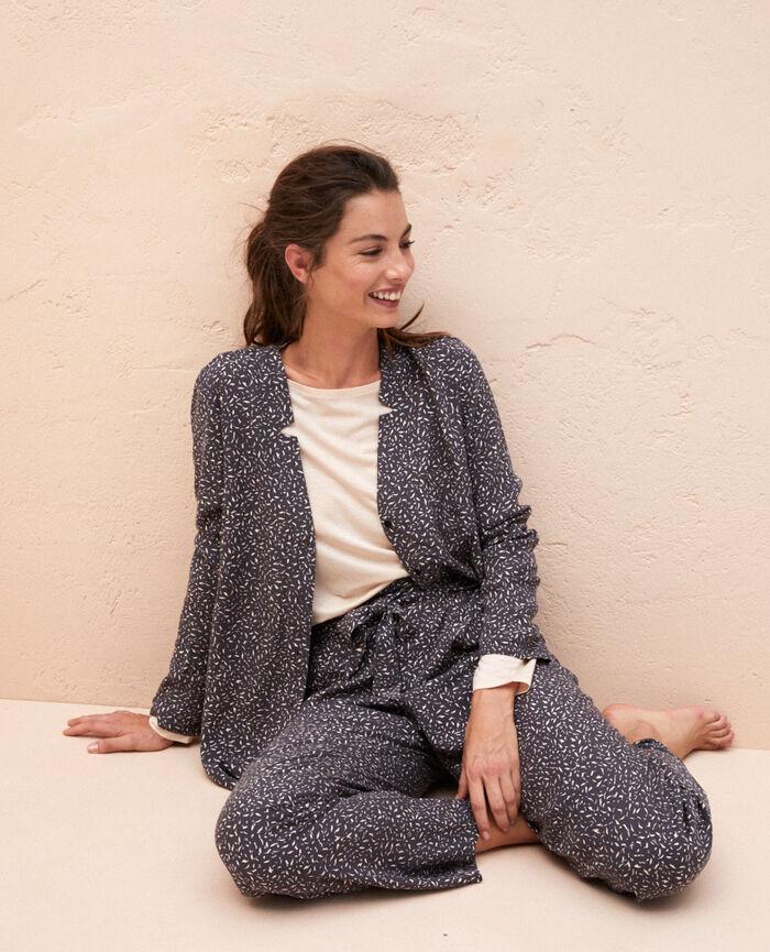 Veste de pyjama Optik gris Pictural