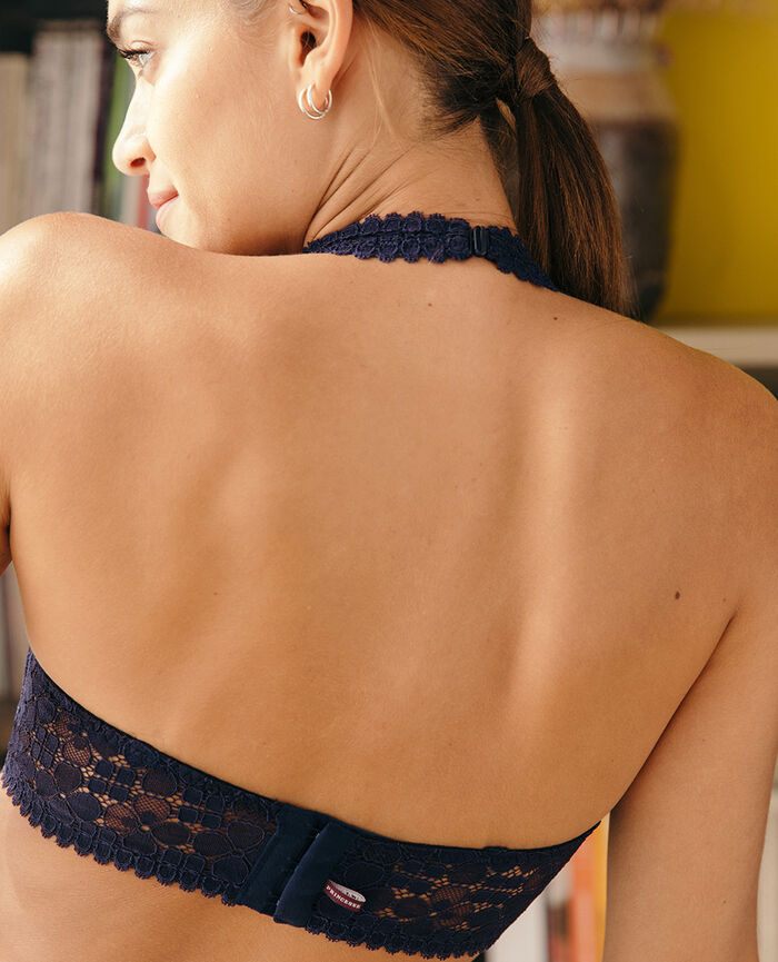 Backless triangle bra Navy Josephine
