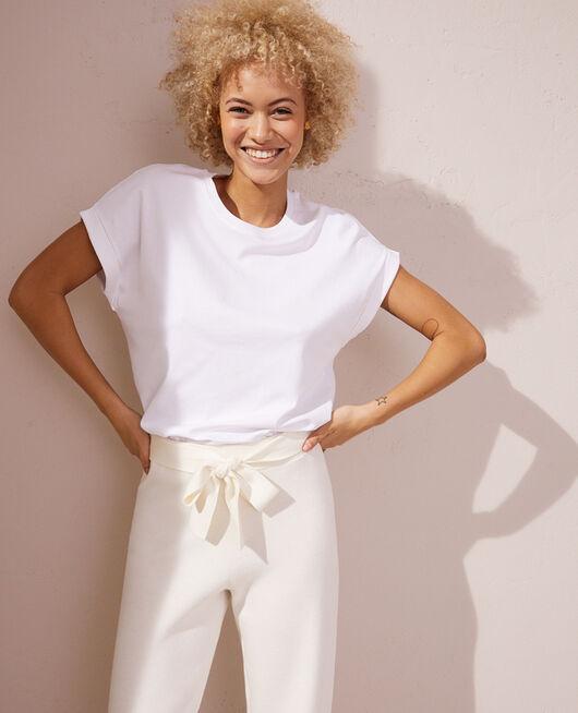 T-shirt manches courtes Blanc Supima