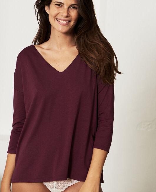 T-shirt manches longues Prune Paresse