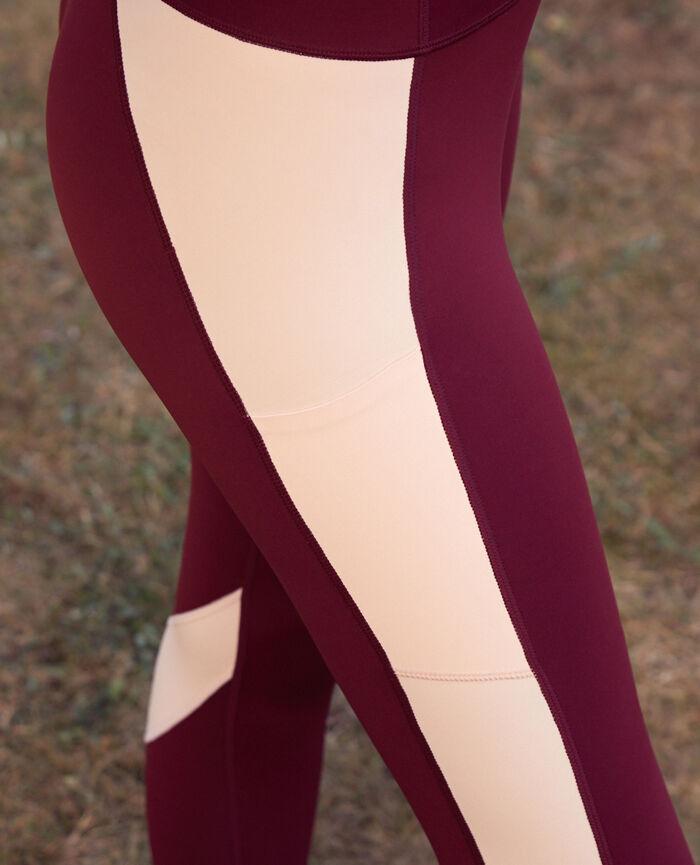 Legging de running galbant long Rouge cassis Run