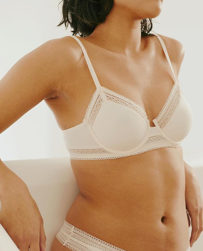 Soutien-gorge avec armatures Blanc rosé Eclat