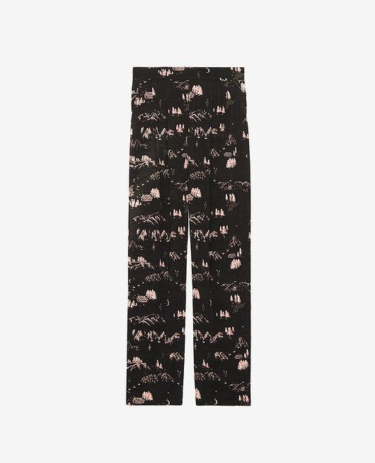 Pantalon Montagne noir Attitude imprime