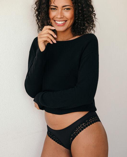 Culotte taille basse Noir Monica