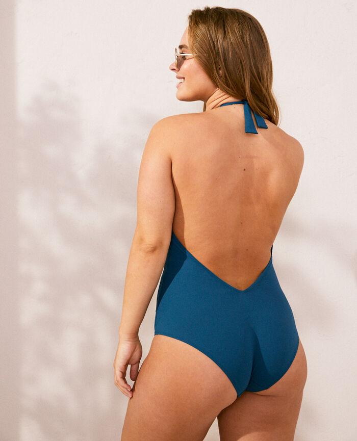 Swimsuit halterneck Sombrero blue Impala