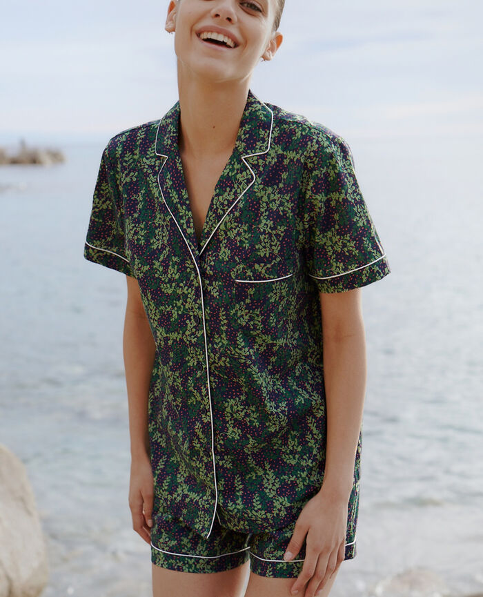Set pyjama Lilas bleu marine Tutti frutti