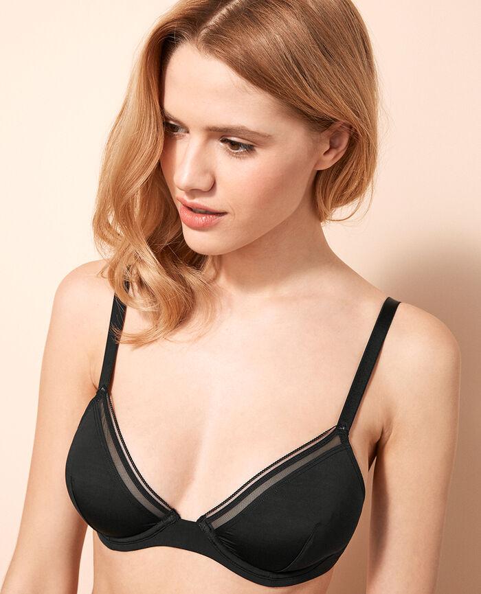 Mini-wire triangle bra Black Make up