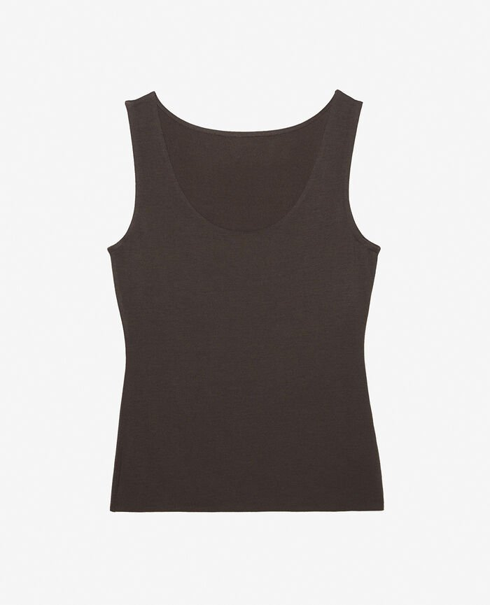 Vest top Grey fog Heattech© innerwear