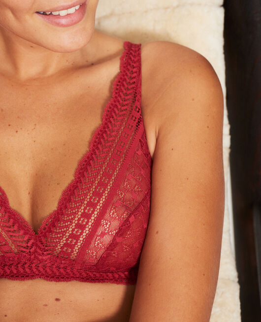 Soft cup bra Ruby red Duo