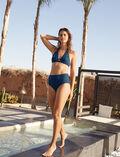 High-waisted swim briefs Sombrero blue Couture