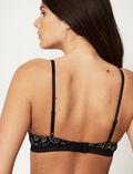 Wireless padde bra Black petal Echo