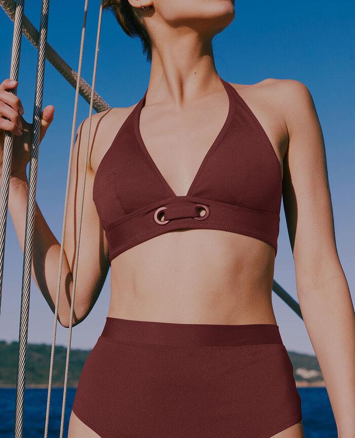 Padded triangle bikini top Sienna brown Impala