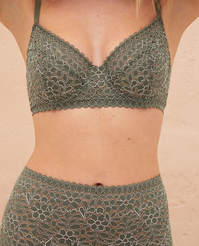 Underwired bra Casbah green Monica