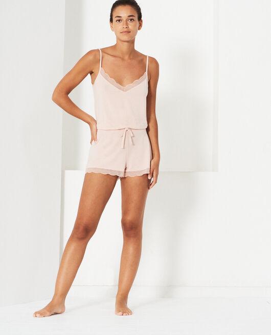 Pyjama shorts Powder beige Douceur