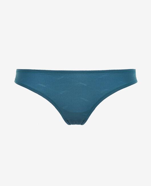 Culotte de bain échancrée Vert émeraude Niala