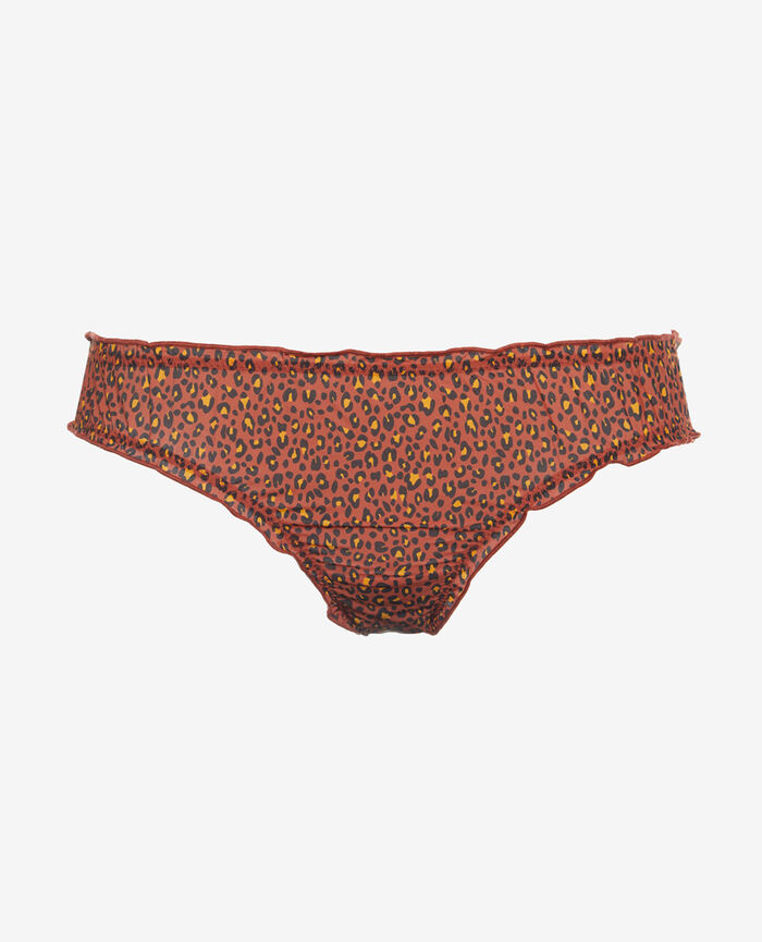 Printed briefs Leopard terra cotta Take away