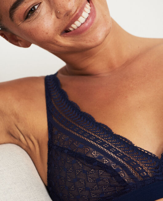 Soft cup bra Navy Duo