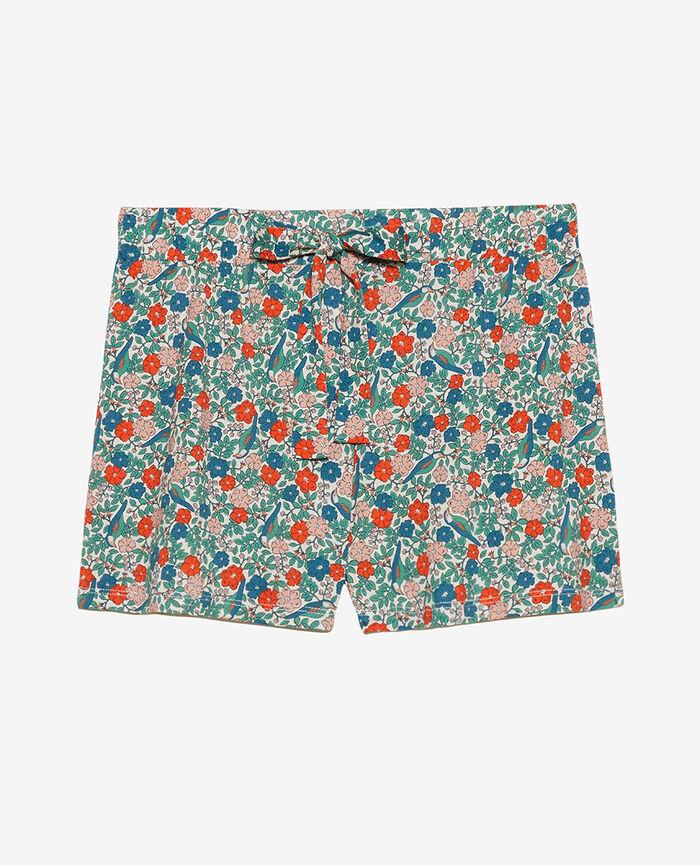 Pyjama shorts Powder beige liberty Tamtam shaker