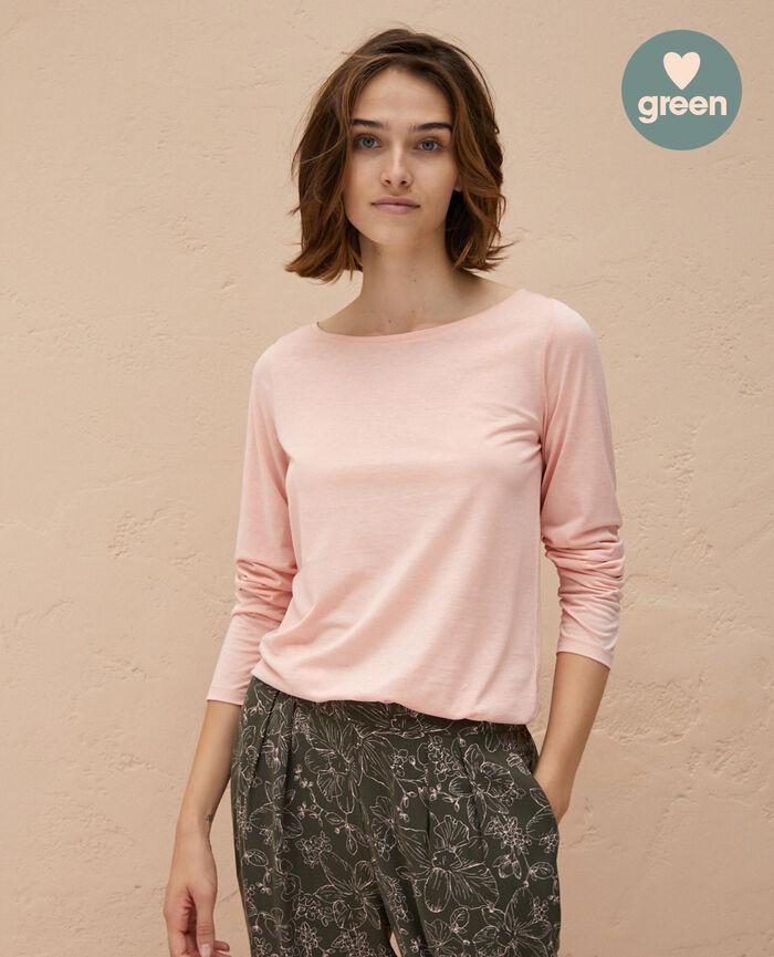 T-shirt manches longues Rose nuage Latte organic