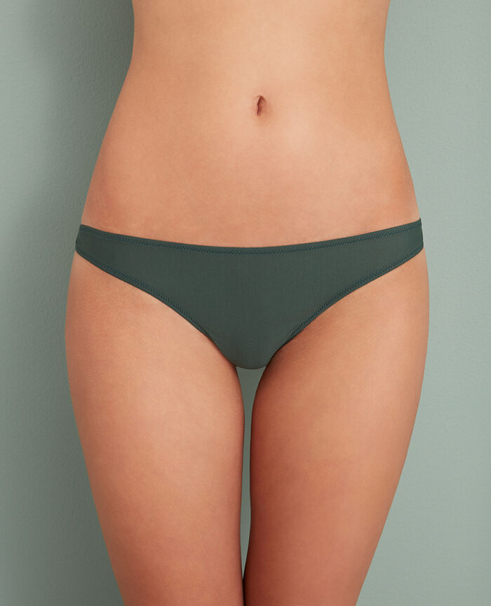 Culotte taille basse Vert story Taylor