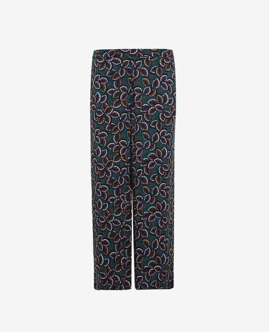 Pantalon gaucho Wax bleu Pyjmania